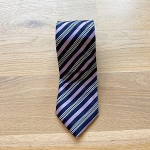 ALEXANDER JULIAN COLOURS Purple Striped Necktie